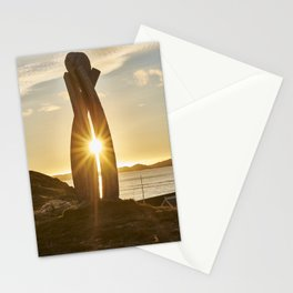 Art in the sunset Stationery Cards