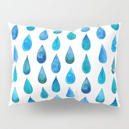 Blue Raindrop Pillow Sham