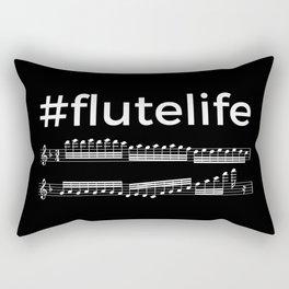 #flutelife (dark colors) Rectangular Pillow
