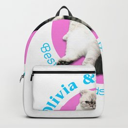 Olivia & Meredith Best Friends Purrr-Ever Original T-shirt Backpack