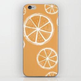 Oranges Watercolour Fruit Illustrated Pattern iPhone Skin