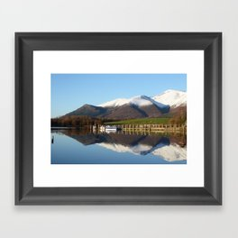 Derwentwater winter scene Framed Art Print