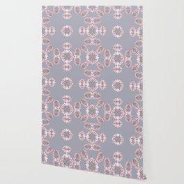 Pale pink wildflowers Wallpaper