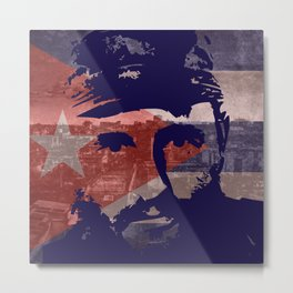 Heads of State: Fidel Castro Metal Print