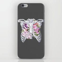 Floral Ribcage iPhone Skin