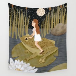 toad in the night Wall Tapestry