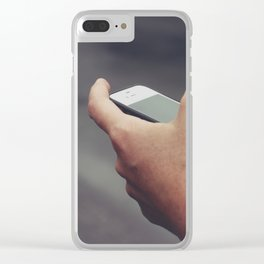 Texting Photo Clear iPhone Case