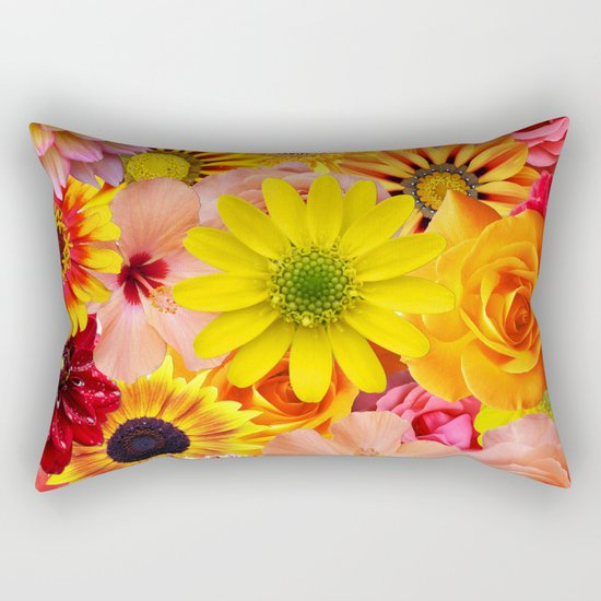ORANGE FLOWERS Rectangular Pillow