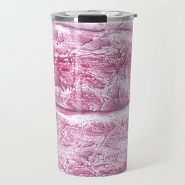 Pink marble watercolor pattern Travel Mug