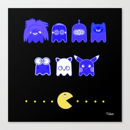 pacman inspired Canvas Print