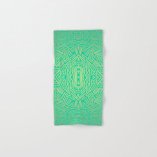 Radiate (Yellow/Ochre Teal- non metallic) Hand & Bath Towel