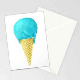 elefant icecream Stationery Cards