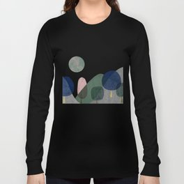 Trees and mountains Long Sleeve T-shirt