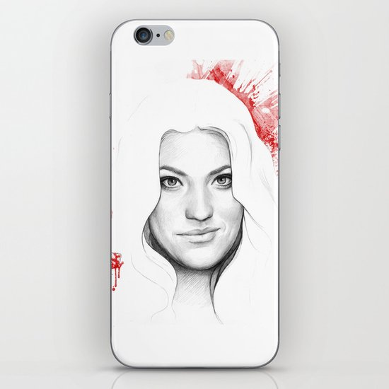 Debra and Blood Splatters iPhone & iPod Skin