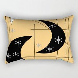 Mid-Century Boomerangs Yellow Rectangular Pillow