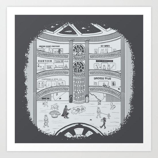 Darth Mall Art Print