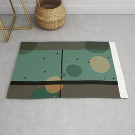 The Girl and the Moon (Pattern) Rug