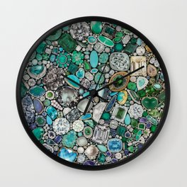 Diamonds, Jewels, (Gems & The Hologram) Wall Clock