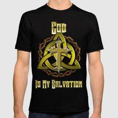 God Is My Salvation Mens Fitted Tee Black MEDIUM