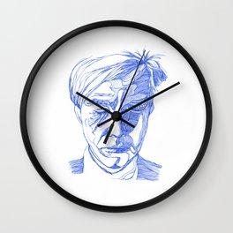 Andy portrait (Blue) Wall Clock