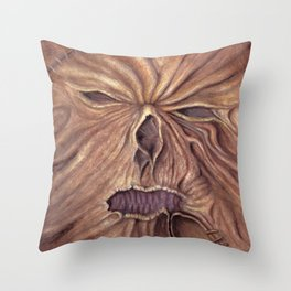 Necronomicon - Ash Vs. Evil Dead (Watercolor Painting) Throw Pillow