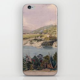 Panorama of West Point from Constitution Island by John Rubens Smith (c 1820) iPhone Skin