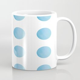 Sky Blue Watercolour Polka Dots Coffee Mug