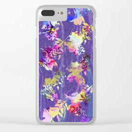 Lavender fall Clear iPhone Case