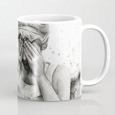 Weeping Angel Watercolor Painting Mug