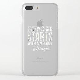 singer singing singing singer band choir Clear iPhone Case