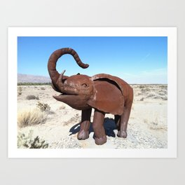 Elephant in the Desert (California)--2013 Art Print