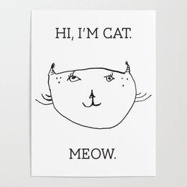 Hi, I'm Cat. Poster