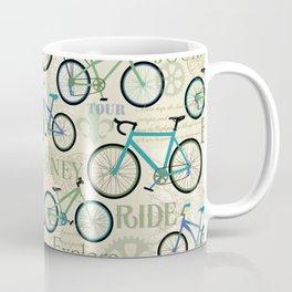 Bicycle Journey Blue Coffee Mug
