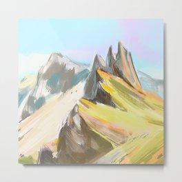 Mountains minimalism colors Metal Print