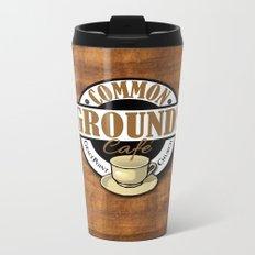 Common Grounds Cafe Logo Metal Travel Mug