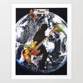 """Peace"" Collage Art Print"