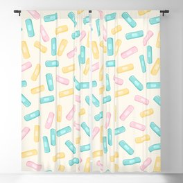 Pastel Plasters Blackout Curtain