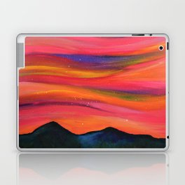 TWILIGHT SKY OVER MOURNE MOUNTAINS - Abstract Sky Oil Painting Laptop & iPad Skin