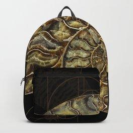 Ammonite Trilobite Fibonacci Spiral Backpack