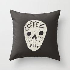 COFFEE DEATH Throw Pillow