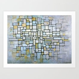 Composition in Blue Gray and Pink Piet Mondrian, 1913 Art Print