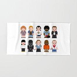 Pixel Pulp Fiction Characters Hand & Bath Towel