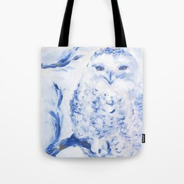 Insight: Snowy Owl Tote Bag