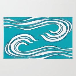 waves mother ocean Rug