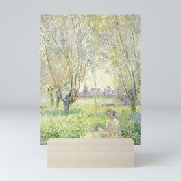 Woman Seated under the Willows (1880) by Claude Monet Mini Art Print