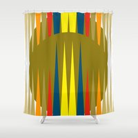 games Shower Curtains featuring Games by Heaven7