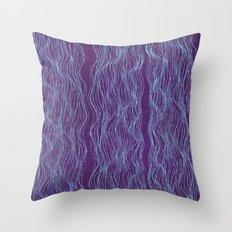 Blue threads Throw Pillow