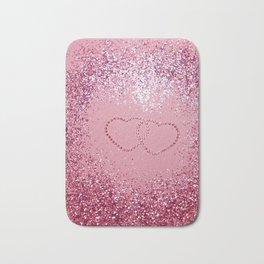 In Love Sparkling Glitter Hearts #1 #red #decor #art #society6 Bath Mat