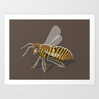 Tiger Bee Art Print