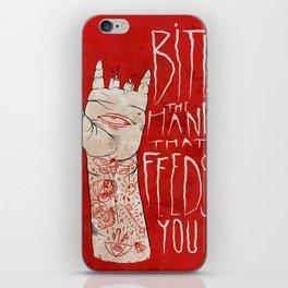 bite the hand. iPhone Skin